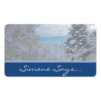 Snow on Pine Trees in Colorado Rocky Mountains Double-Sided Standard Business Cards (Pack Of 100)