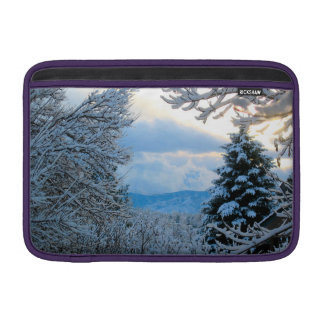 Snow on Pine Trees in Colorado Rocky Mountains MacBook Sleeve