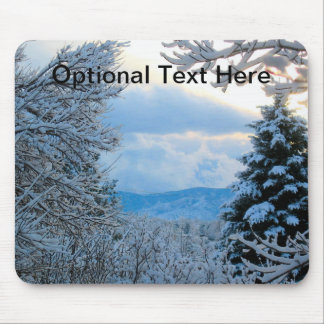 Snow on Pine Trees in Colorado Rocky Mountains Mouse Pad