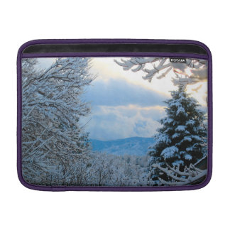 Snow on Pine Trees in Colorado Rocky Mountains Sleeve For MacBook Air