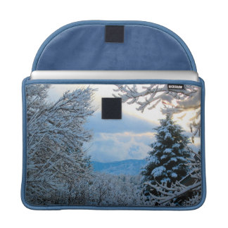 Snow on Pine Trees in Colorado Rocky Mountains Sleeve For MacBooks
