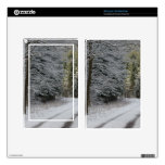 SNOW ON ROAD SKINS FOR KINDLE FIRE