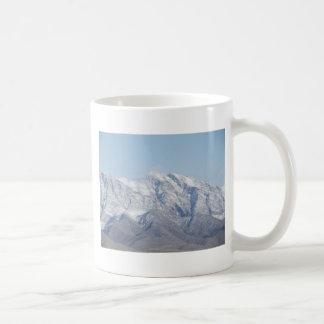 Snow on the Desert Mountains Coffee Mug