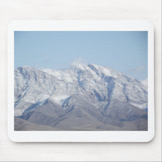 Snow on the Desert Mountains Mouse Pad
