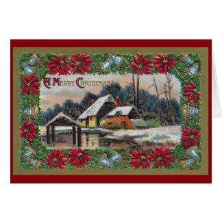 Snow on the Farm Vintage Christmas Card