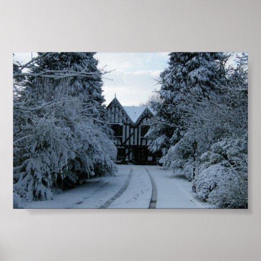 Snow on the Manor House photo Print