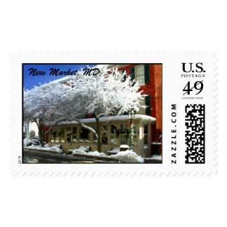Snow On the Menu, New Market, MD Postage Stamp