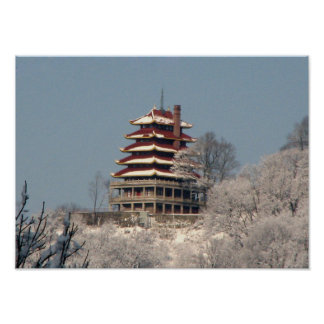 Snow on the Pagoda Poster