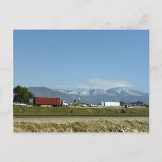Snow On The San Bernardino Mountains