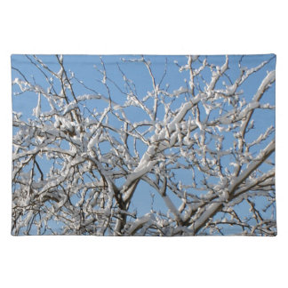 Snow on Tree Place Mats