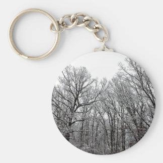 Snow on Trees Keychain