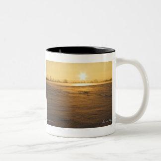 Snow or Sand Two-Tone Coffee Mug