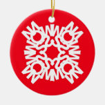 SNOW Ornament Red 1