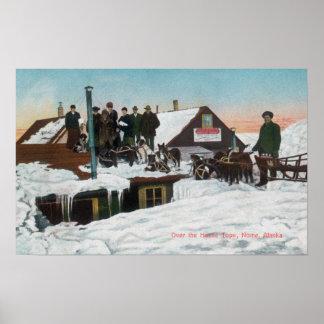 Snow Over the House TopsNome, AK Poster