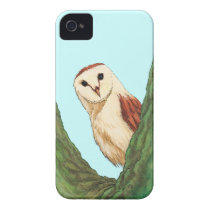 snow owl animal iPhone 4 Case-Mate case