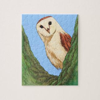 snow owl animal puzzle