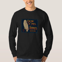 Snow Owl Apples Fruit Crate Label Shirt