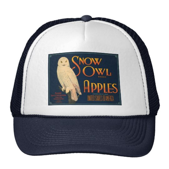 Snow Owl Brand Apples Trucker Hat