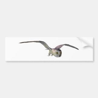 Snow owl bumper sticker