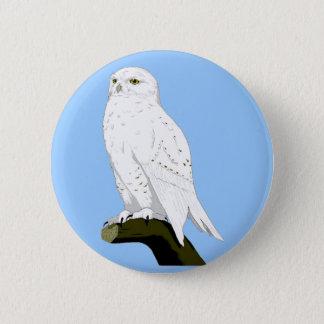Snow Owl Button