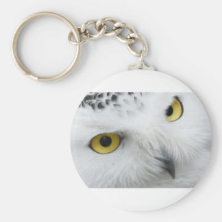 Snow Owl Eyes Keychain