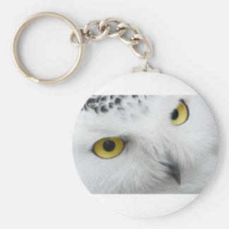 Snow Owl Eyes Keychain