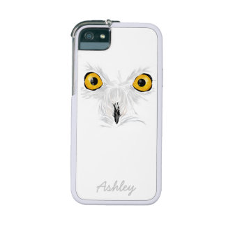 Snow owl face yellow eyes iPhone 5 cases