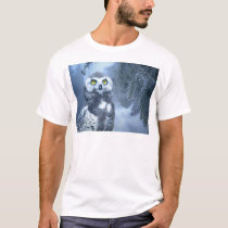 Snow Owl in Forest T-Shirt