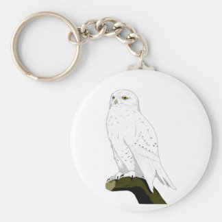Snow Owl Keychains