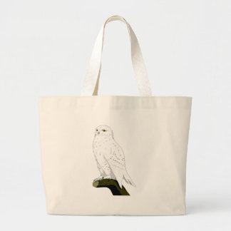 Snow Owl Large Tote Bag