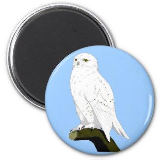 Snow Owl Refrigerator Magnet