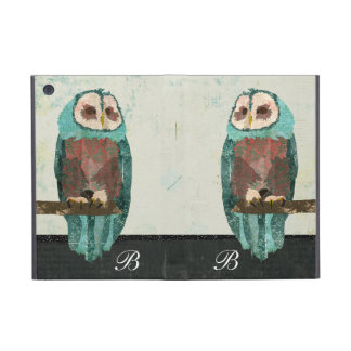 Snow Owl Monogram  iPad Case