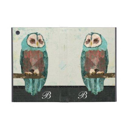 Snow Owl Monogram  iPad Case