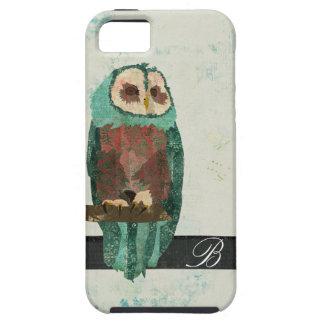 Snow Owl Monogram iPhone Case