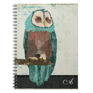 Snow Owl Monogram Notebook