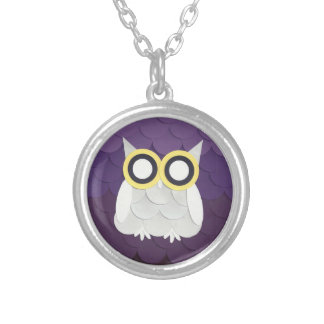 Snow Owl Silver Plated Necklace