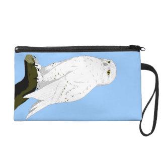 Snow Owl Wristlet