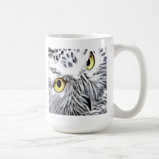 Snow Owl yellow eyes Coffee Mug