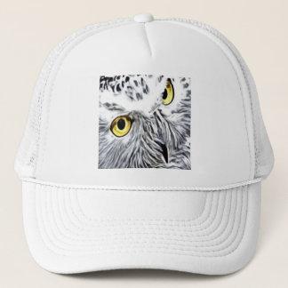 Snow Owl yellow eyes Trucker Hat