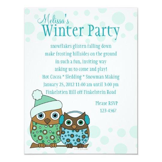 Snow Owls Card