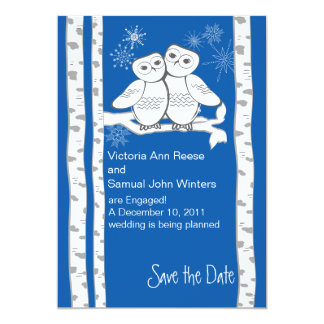 Snow Owls/ Save the Date Card