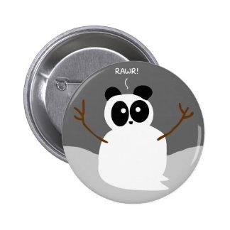 Snow Panda Pinback Button