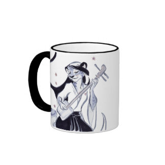 Snow Pard Shamisen Ringer Coffee Mug