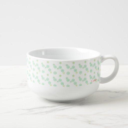 Snow pattern soup mug