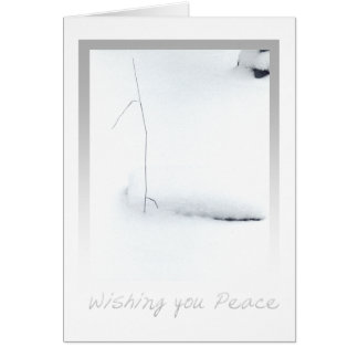 snow peace greeting card