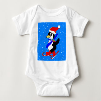 Snow Penguin Baby Bodysuit