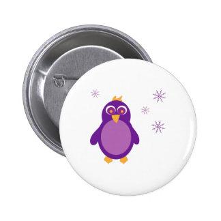 Snow Penguin Pinback Button