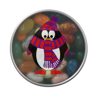 Snow Penguin Jelly Belly Candy Tins