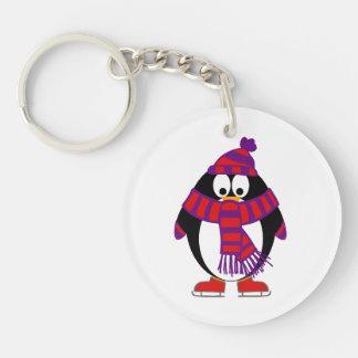 Snow Penguin Keychain