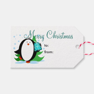 Snow Penguin Merry Christmas Pack Of Gift Tags